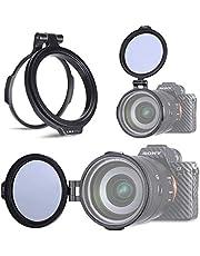 Linghuang Sistema de Filtro rápido portafiltros Lente de cámara rápida de Aleación de Aluminio Soporte de Montaje de Filtro ND (67mm)