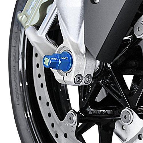 Motorrad Innensechskant Steckachsen Nuss Kawasaki ZZR 1400 blau