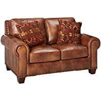 Steve Silver Company Silverado Loveseat with 2 Accent Pillows