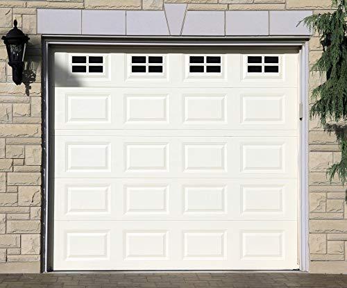 Garage Door Decorative Hardware 16-Pack (5.9x 3.93), Single Car Large Door Faux Magnetic Windows All Season Weather Resistant Non-Fade PVC Small Panels Kits Easy Installation for Metal Garage Door