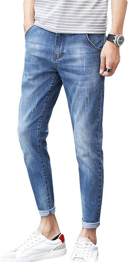 [NEXTCORNER] ジーンズ メンズ デニムパンツ ロングパンツ 美脚 裾上げ カジュアル スリム 9分丈 春 夏 秋 品質保証