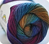 Rosecolor Hand Dyed Gradient Wool Yarn - Rainbow (1 Ball, 04)