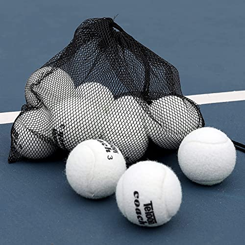 Pelotas de tenis de entrenamiento Teloon pack 12 blancas