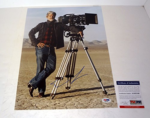 George Lucas Signed Autograph 11x14 Photo PSA/DNA COA #2