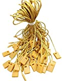 """Hang Tag Fasteners Gold Nylon Strings 7"""" long - 1000 Pieces - by Retail Supply Co"""