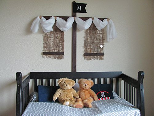 Pirate Ship Boys Crib Bed canopy rustic design Barn wood bedroom decor custom burlap rope Boat Sail Mast Nautical So Zoey Boutique SALE FrEE by So Zoey Boutique