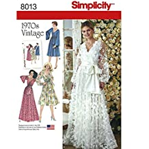 Simplicity 8013 // D0869 Wedding or Evening Dress Vintage circa 1970s Sewing Pattern (H5 (6-14))