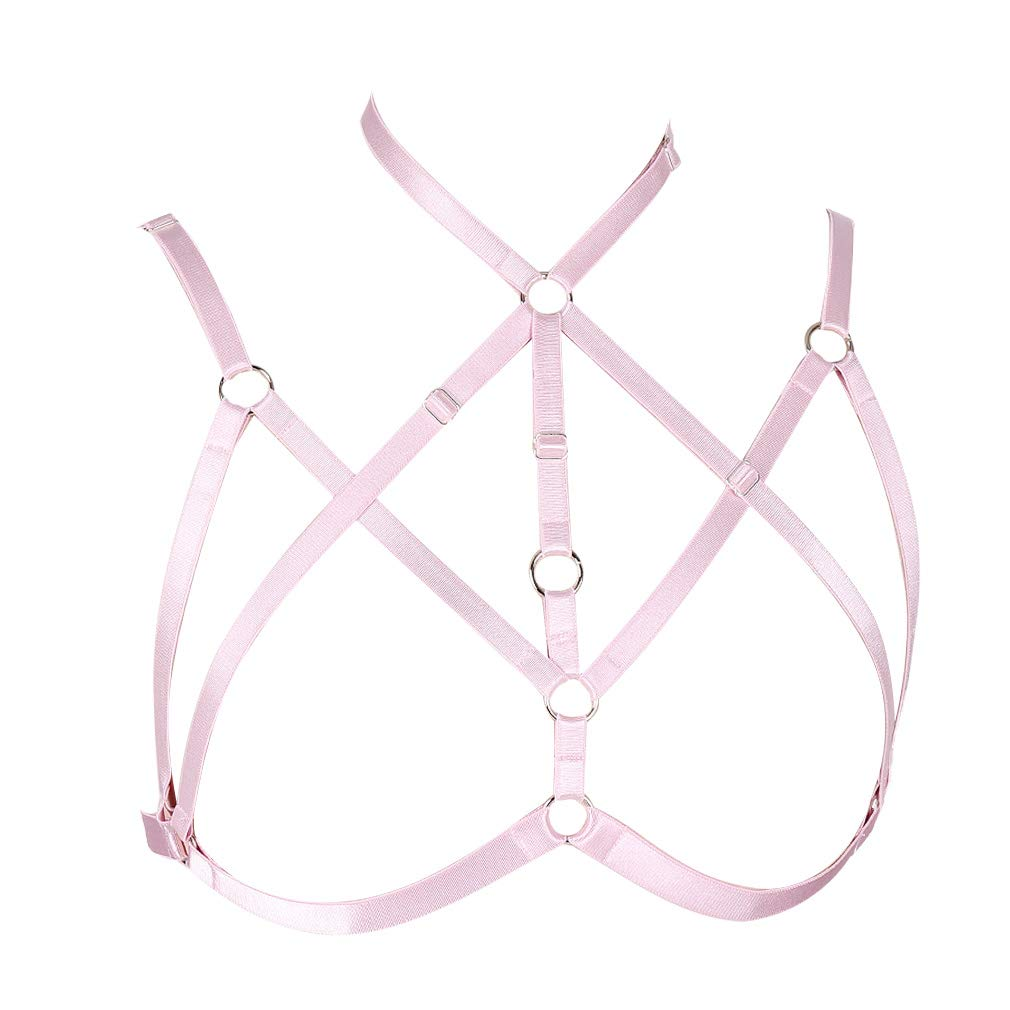 Body Harness Bra for Women Punk Strappy Tops Chest Belts Adjust Frame