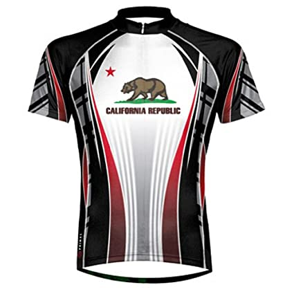Amazon.com   Primal Wear California Republic Flag Cycling Jersey ... a39e579df
