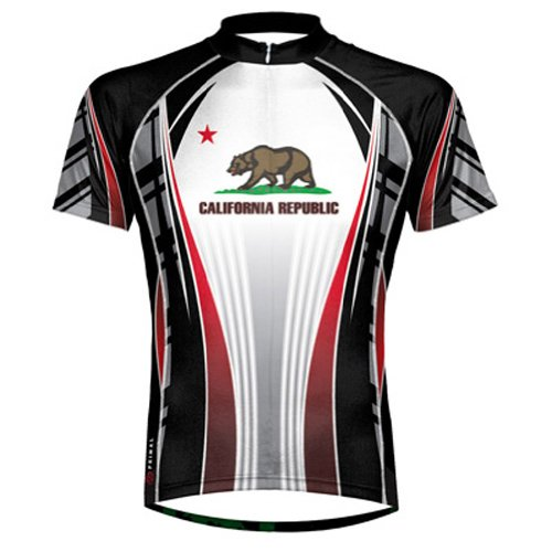 Primal Wear California Republic Men's Cycling Jersey - Bike Wear Primal