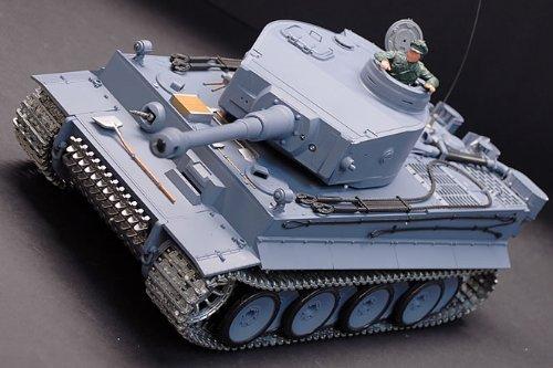 1/16 German Tiger Air Soft Rc Battle Tank Smoke & Sound (Upgrade Version w/ Metal Gear & Tracks) [並行輸入品]   B01KDV26JS