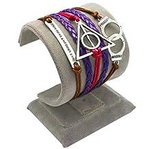 Wandafull Leather Link Bracelets Handcuffs Death Artifact
