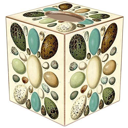 - Antique Bird Eggs Paper Mache Tissue Box Cover