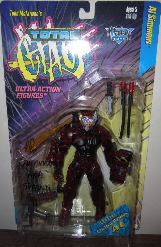 Al Simmons (red, with Todd McFarlane Autograph) Total Chaos Spawn Figure
