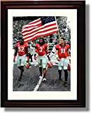 "Framed Georgia Bulldogs ""2014 Captains"" Aaron Murray, Amarlo Herrera & Todd Gurley Autograph Replica Print"