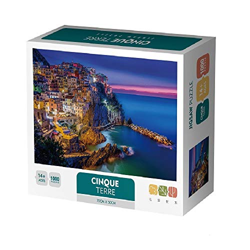 1000 Piece Jigsaw Puzzles for Adults Kids,Italy Cinque Terre Manarola Puzzle for Teens Family Children Intelligence Challenge Puzzle