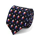 Men's Waving Texas State Flag Necktie Tie Neckwear
