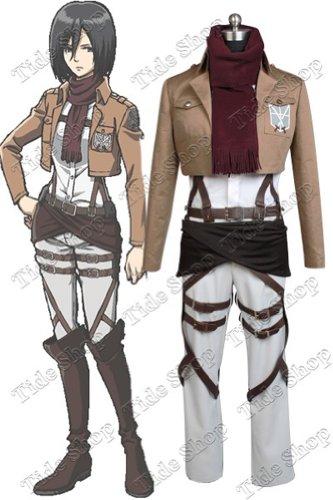 Shingeki no Kyojin Attack on Titan Mikasa Ackerman Cosplay Costume (Female (Mikasa Ackerman Costume)
