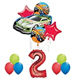 Hot Wheels 2nd Birthday Party Supplies and Balloon Decorations