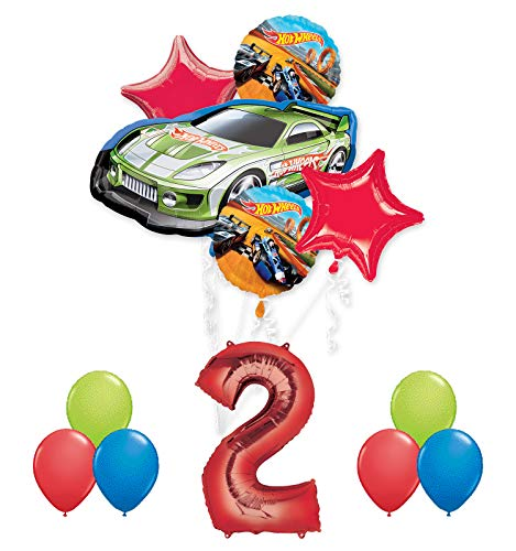 Hot Wheels 2nd Birthday Party Supplies and Balloon -