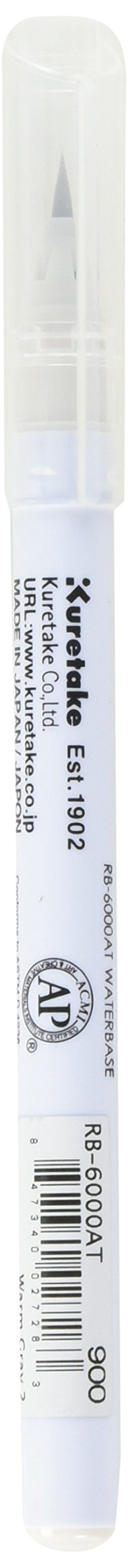 Zig RB6000AT-900 Clean Color Real Brush Marker, Warm Gray