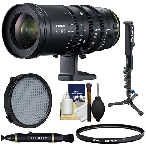 Fujifilm 50-135mm T|2.9 MKX Cinema Zoom Lens with Filters + Monopod + Cleaning Kit