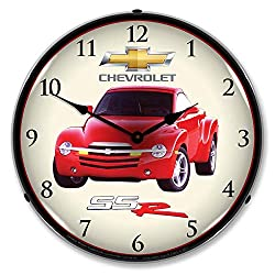 Chevrolet SSR LED Wall Clock, Retro/Vintage, Lighted, 14 inch