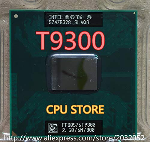 Cailiaoxindong Core 2 Duo T9300 t9300 2.5 GHz 6M 800MHz Processor Socket P SLAYY SLAQG CPU Core 2 Duo T9300 Processor