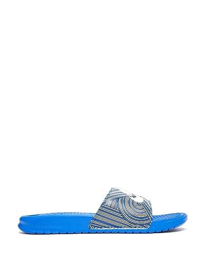 sale retailer f9942 20044 Nike Benassi JDI Print, Chaussures de Sport Homme, (Bleu Racing Blanc-Noir),  40 EU  Amazon.fr  Chaussures et Sacs