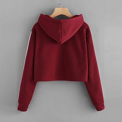 Damen Langarm T Shirt Oberteile Frauen Lose Pullover Lange Ärmel Streifen Shirt Tops Bluse (S, Blau)