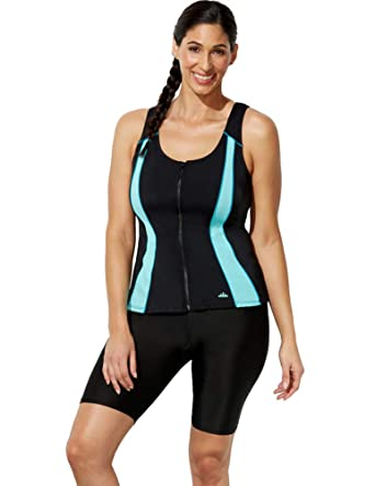 ba1443ff37 Swimsuits for All Women's Plus Size Up Sport Tankini Set with Bike Short at Amazon  Women's Clothing store: