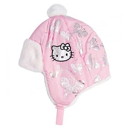 Berretto Cappello Bambino Ragazza Hello Kitty ROSA E BIANCO di 3 a 9 anni  rosa Rose 227eb902321c