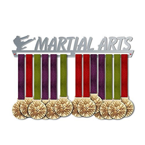 (Martial Arts Medal Hanger Display - Award Medal Holder - 100% Stainless Steel Rack - Perfect Gift for Champions! )