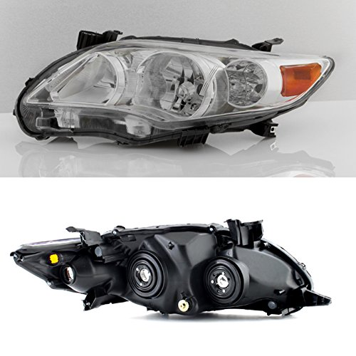 For 2011-2013 Toyota Corolla Passenger Right Side Headlight Head Lamp Direct Replacement