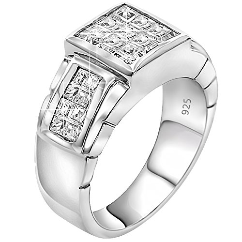 mens-sterling-silver-925-designer-ring-featuring-invisible-set-princess-cut-cubic-zirconia-cz-stones