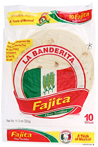 La Banderita Tortilla Fajita 6 inch, 11.3 oz, 10 ct