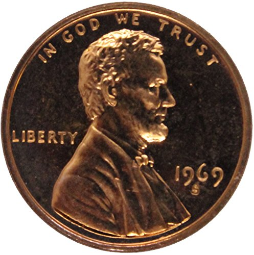 1969 S Lincoln Wheat Cent 10C Proof #014