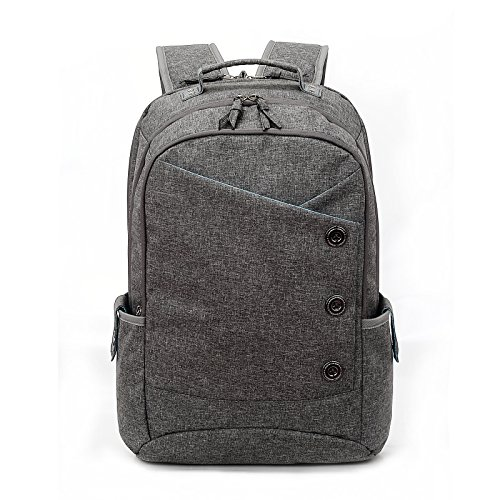 Laptop Backpack Bag Durable Linen Large Capacity Casual Daypack (gray) (Gray Womens Backpack)
