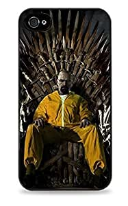 Walter White Game Of Thrones Black Silicone Case for ipad iphone 4/4s