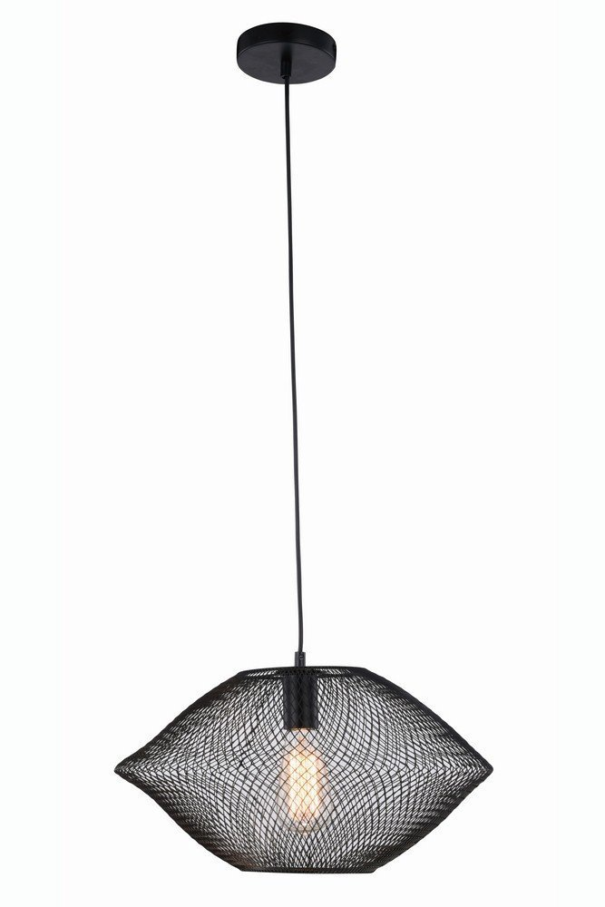 Elegant Lighting 2110D18BK Brighton Collection Pendant Lamp D17.5'' H10'' 1-Light by Elegant Lighting (Image #1)