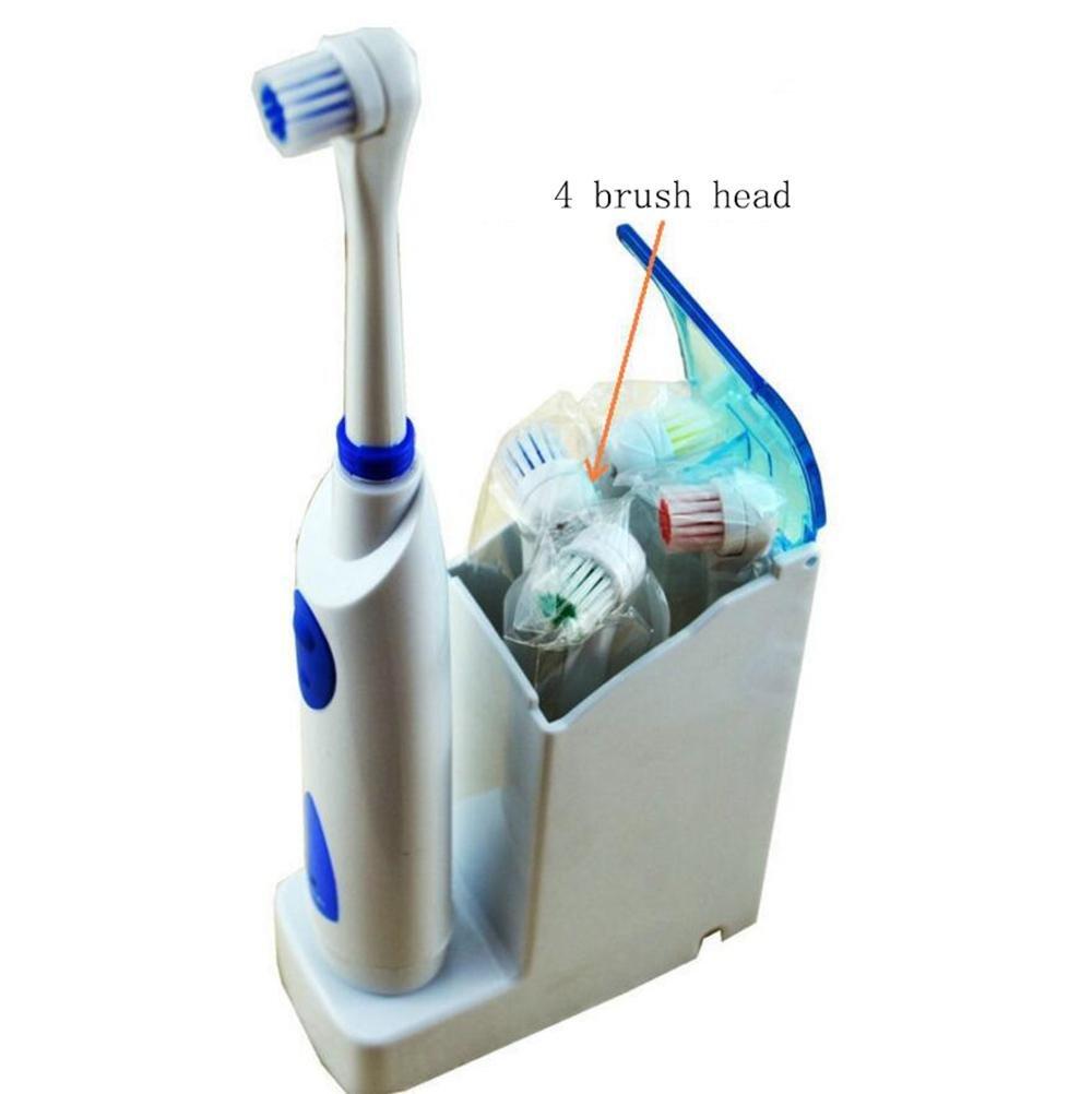 El cepillo de dientes eléctrico adulto de los niños impermeabiliza un total de 4 gomas suaves del masaje de la cabeza del cepillo de pelo , 4 sets: ...
