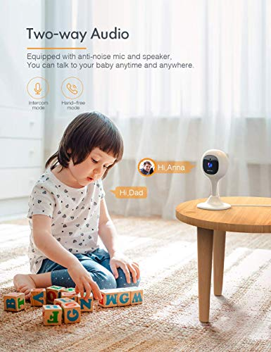 APEMAN Baby Monitor WiFi Camera 1080P FHD Home Security Camera with Night Vision/Sound&Motion Detection/2-Way Audio for Baby/Elder/Pet Compatible with iOS&Android
