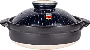Earthenware Clay Pot Casserole Clay Pot Japanese Style Stew Thick And Insulated Handmade Star Rain-2L