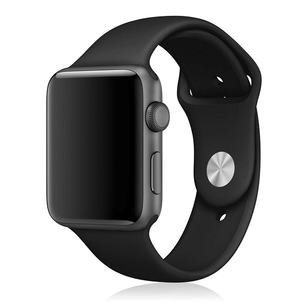 DAM DMX190BK - Correa de Silicona para Apple Watch (42 mm) Color Negro
