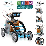 CIRO Solar Robot Creation Kit, 12-in-1 Solar Robot Kit for Kids, STEM Educational Science Toys with Working Solar Powered Motorized Engine and Gears