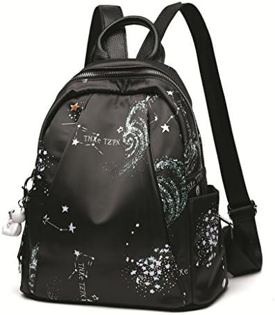 黒の女性のバックパック大容量旅行キャンバスバッグミニバックパック (色 : Black)