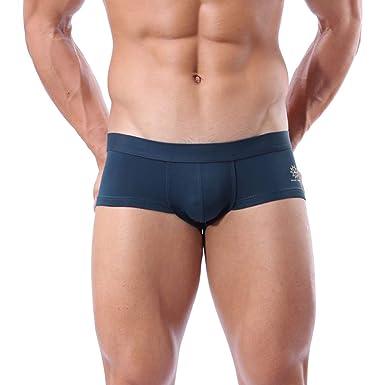 7673f125e1 Mens Swim Briefs, Summer Pure Color Sport Thong Underwear Hot Body Boxer  Briefs Swimsuit Board Shorts Low Rise Trunks Hawaii | Amazon.com