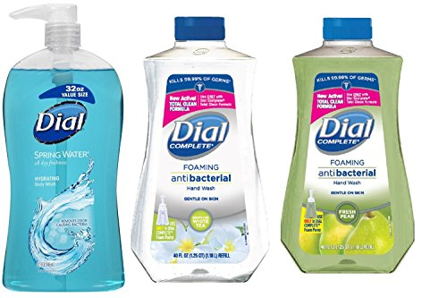 Dial Fresh Pear and White Tea Hand Wash 40 Oz bundle with Sp