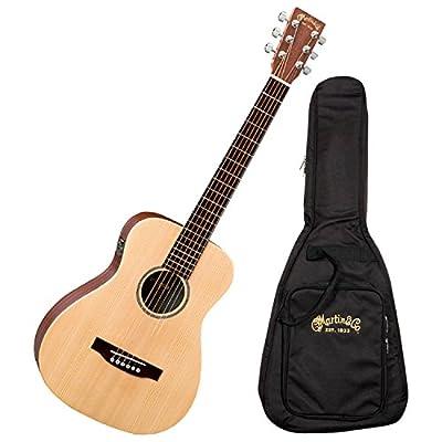 Martin LX1E Acoustic Guitar W/ Fishman Sonitone electronics Solid Sitka spruce top Modified O-14 fret body Inlaid boltaron w/red