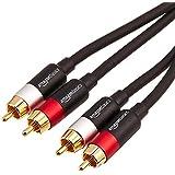 AmazonBasics 2-Male to 2-Male RCA Audio Cable - 4 Feet